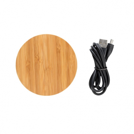 Chargeur publicitaire par induction 5 W - Bamboo X