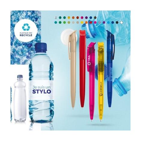 Stylo bille corps et clip en plastique recyclé