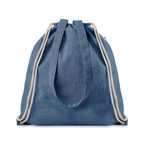 Sac shopping publicitaire en coton recyclé - Moira Duo