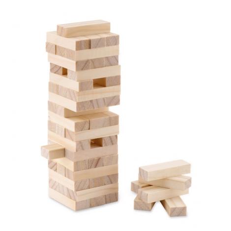 Jeu de construction en bois publicitaire - Pisa