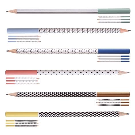 Étui 4 crayons à papier publicitaire - Collection Graph