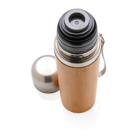 Bouteille isotherme publicitaire en bambou - 400 ml