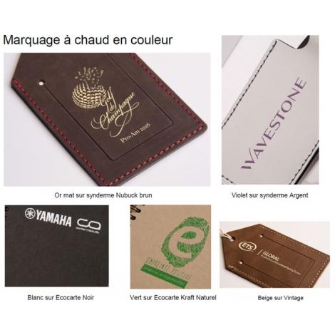 Porte documents publicitaire en cuir recyclé