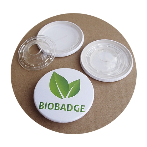 Badge publicitaire biodégradable