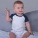 Combishort bébé publicitaire baseball coton bio 200 gr