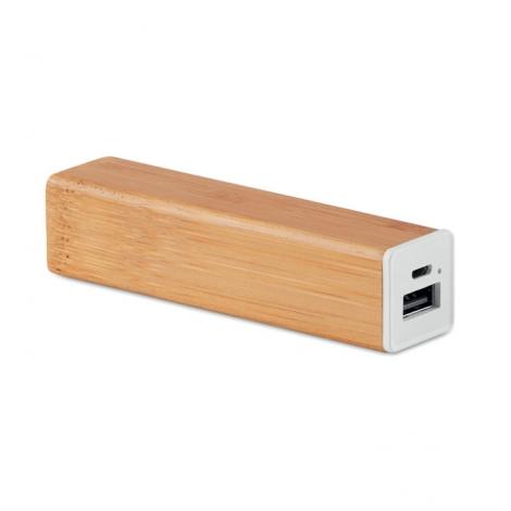 Batterie externe publicitaire en bambou 2200 mAh - Powerbam