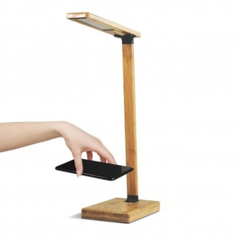 Lampe publicitaire chargeur à induction en bambou