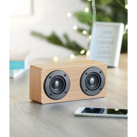 Double enceinte en bois publicitaire - Sonictwo