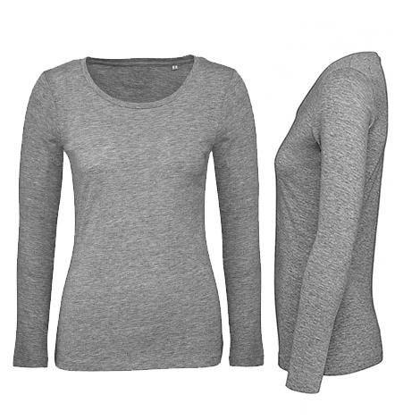T-shirt femme bio manches longues 140 grs - Inspire