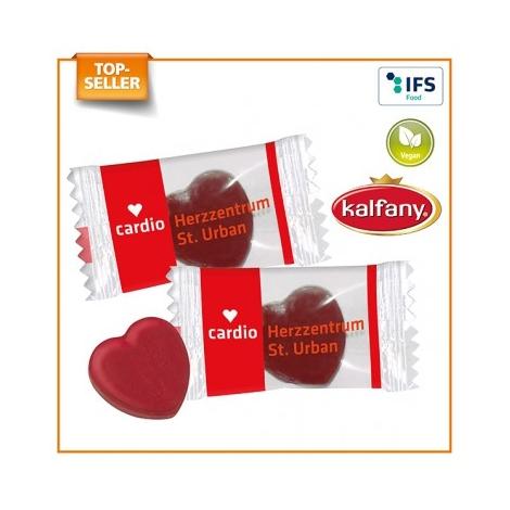 Bonbon publicitaire en forme de coeur