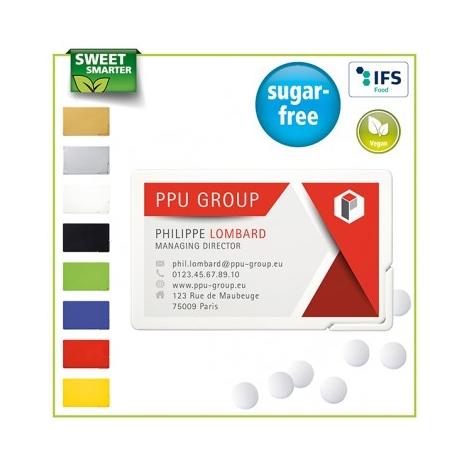 """Carte """"de visite"""" publicitaire sans sucre"""