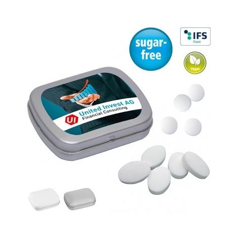 Mini boite à pastilles publicitaire