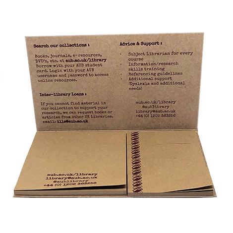Bloc-notes publicitaire en carton reyclé