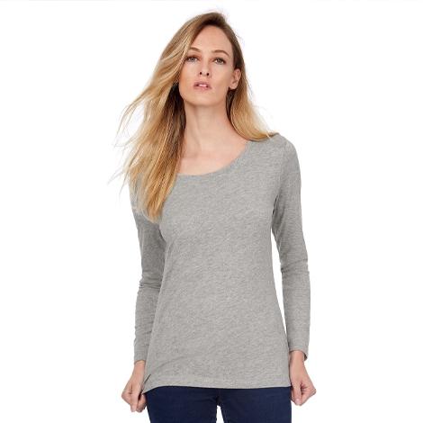 T-shirt publicitaire femme bio manches longues 140 gr - Inspire