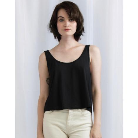 Débardeur court en coton bio pour femme 130 g - Crop Vest