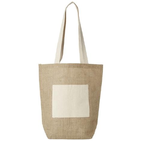 Sac shopping publicitaire avec poche coton - Calcutta