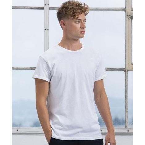 T-shirt bio publicitaire pour homme 150 g - Roll Sleeve