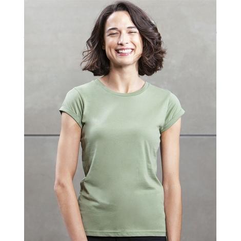 T-shirt bio publicitaire pour femme 150 g - Roll Sleeve