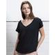 T-shirt publicitaire bio ample pour femme 125 g - V-Neck