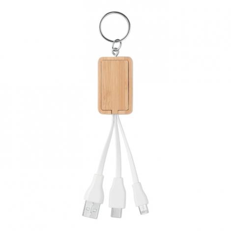 Porte clés publicitaire avec câbles de chargement - CLAUER