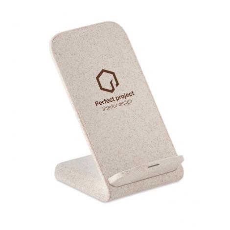 Support de téléphone publicitaire et chargeur sans fil