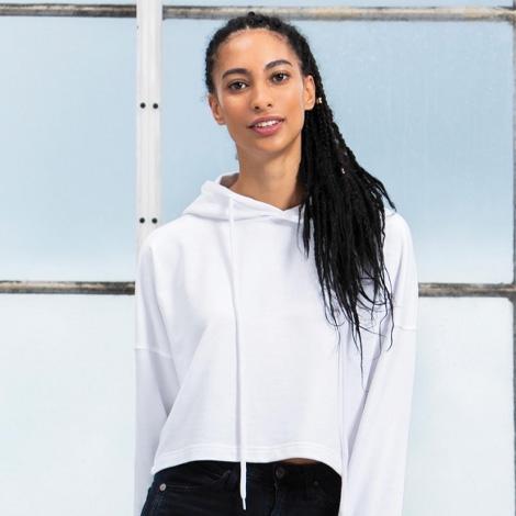 Sweat-shirt publicitaire pour femme 300 gr - Cropped Hoodie