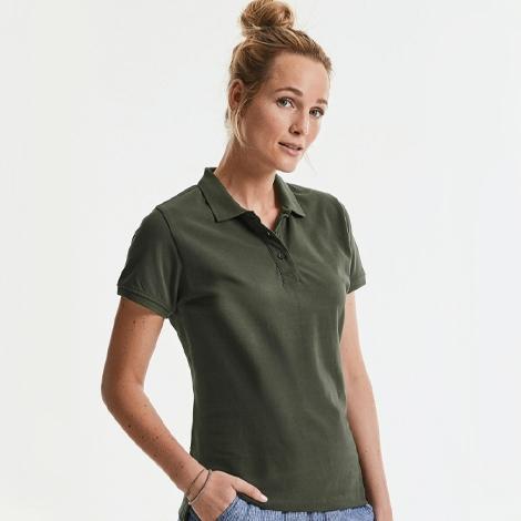 Polo publicitaire pour femme 215 gr - Pure Organic