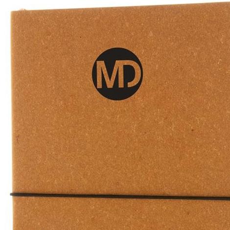 Carnet de notes publicitaire en cuir recyclé - A5