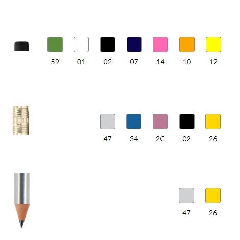 Crayon publicitaire recyclé - BIC® Evolution® Metallic Digital Ecolutions®
