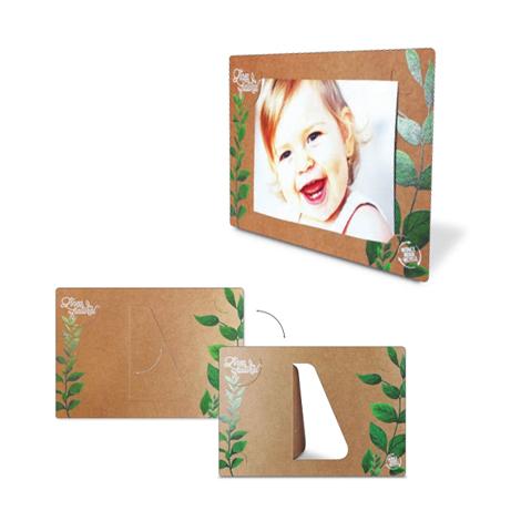 Cadre photo publicitaire en carton kraft ou recyclé