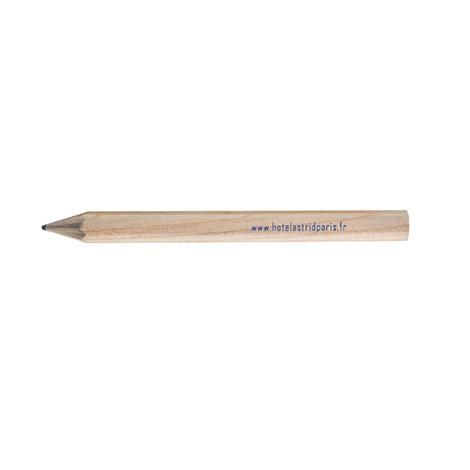 Crayon publicitaire hexagonal - Prestige naturel 8,7 cm