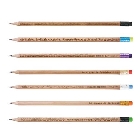 Crayon rond personnalisé gravure - Prestige naturel 17,6 cm