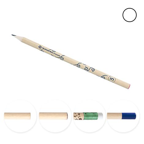 Crayon personnalisé bois français vernis incolore - 17,6 cm