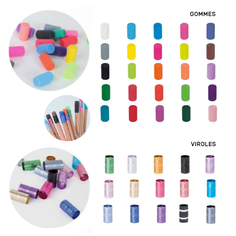 Kit personnalisé marque-page et crayon vernis noir - 17,6 cm