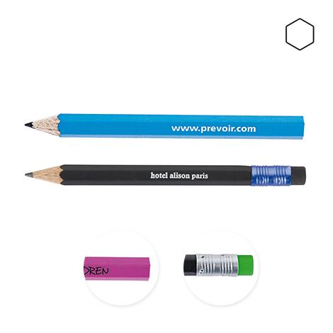 Crayon personnalisé hexagonal vernis couleur - Eco 8,7 cm