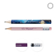 Crayon de papier publicitaire vernis couleur - Eco 8,7 cm