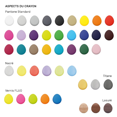 Crayon publicitaire hexagonal vernis Pantone - Eco 17,6 cm
