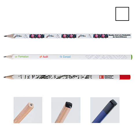 Crayon publicitaire carré vernis Pantone - Eco 17,6 cm