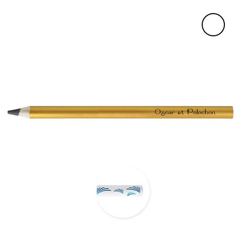 Crayon de bois publicitaire couleur - Big Graphite 17,6 cm