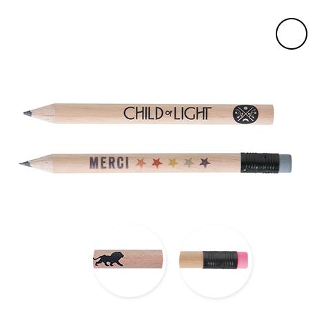 Crayon publicitaire rond vernis incolore - Eco 8,7 cm