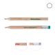 Crayon promotionnel hexagonal vernis incolore - Eco 8,7 cm