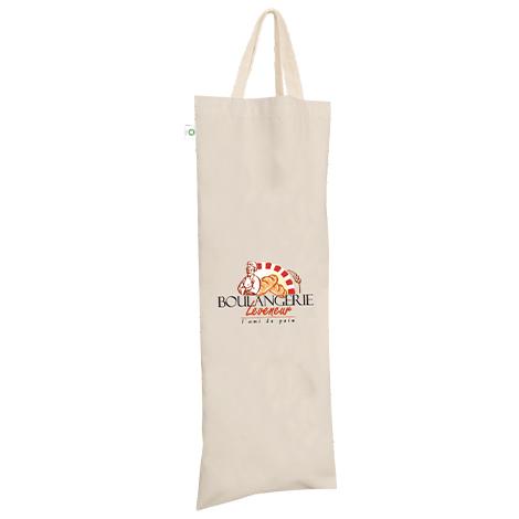 Sac à pain publicitaire en coton bio 120 gr - Ranchi