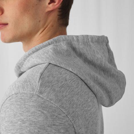 Sweat publicitaire bio zippé à capuche Homme 280 gr