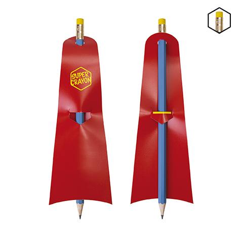 Crayon personnalisé vernis bleu - Le Super Crayon Supman