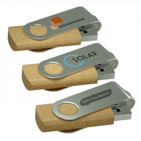 Clé USB en plastique recyclé personnalisée - Twister ECO