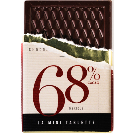 Mini tablette de chocolat publicitaire 30 gr