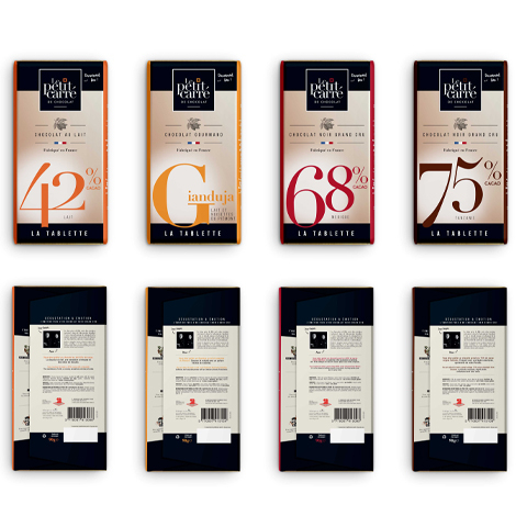 Tablette de chocolat publicitaire -90 gr
