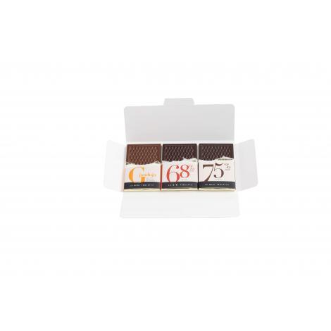 Tablettes chocolat avec carte publicitaire