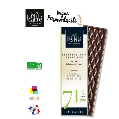 Barre de chocolat personnalisable 10 gr