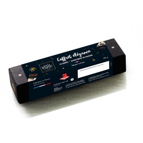 Coffret carrés de chocolat publicitaire Elégance